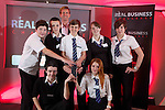 Real Business Challenge 2011.The runners up team from Blackwood Comprehensive School with Coca-Cola Regional Director Mark Dewhurst..25.11.11.©Steve Pope