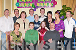 80TH: Eileen Farrell, Ballinskelligs, celebrating her 80th birthday in the Killarney Great Southern Hotel last Saturday night. Front l-r: Anna More, Eileen Farrell (birthday lady) and Patrick Farrell. Back row l-r: Elwyn More, Emmett Farrell, Valerie Farrell, Gavin More, Colin More, Amy Farrell, Ian Farrell, Ita Layden, Teresa Farrell and Paul Farrell..