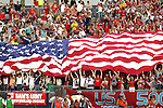 28 May 2006: U.S. supporters celebrate the U.S. goal scored in the 43rd minute. The United States Men's National Team defeated Latvia 1-0 at Rentschler Field in East Hartfort, Connecticut in an international friendly soccer match.