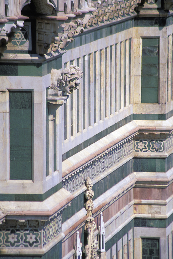 Gargoyle on the side of the Duomo, Florence, Italy