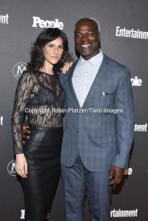 Hisham Tawfiq and wife attends the Entertainment Weekly &amp; PEOPLE Magazine New York Upfronts Celebration on May 16, 2016 at Cedar Lake in New York, New York, USA.<br /> <br /> photo by Robin Platzer/Twin Images<br />  <br /> phone number 212-935-0770