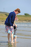 enjoying the Sun and Sea in clogherhead beach<br /> Picture:  www.newsfile.ie