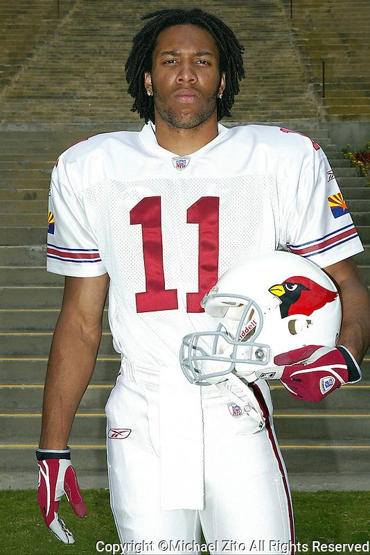 2004 FLEER NFL Rookie Photo Shoot Larry Fitzgerald