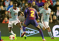 Celta de Vigo's Pione Sisto (l) and Jonny Castro (r) and FC Barcelona's Nelson Semedo during Spanish Kings Cup match. January 4,2018. (ALTERPHOTOS/Acero)