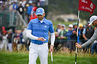 Sergio Garcia (ESP) after sinking his putt on 6 during round 2 of the 2019 US Open, Pebble Beach Golf Links, Monterrey, California, USA. 6/14/2019.<br /> Picture: Golffile | Ken Murray<br /> <br /> All photo usage must carry mandatory copyright credit (© Golffile | Ken Murray)