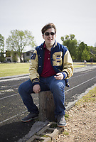 Northwest Arkansas Classical Academy senior Ben Bury poses for a portrait, Friday, May 1, 2020 at the Old Tiger Stadium Park in Bentonville. <br /> (NWA Democrat-Gazette/Charlie Kaijo)