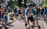 Adam Hansen (AUS/Lotto-Soudal) at the start of his 413th consecutive Grand Tour stage...<br /> <br /> stage 14 San Vito al Tagliamento &ndash; Monte Zoncolan (186 km)<br /> 101th Giro d'Italia 2018