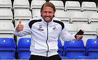 Swansea City assistant coach Bjorn Hamberg prior to the Sky Bet Championship match between Birmingham City and Swansea City at St Andrew's Trillion Trophy Stadium on August 17, 2018 in Birmingham, England.