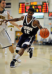 29 January 2012: University of New Hampshire Wildcat forward Ferg Myrick, a Junior from Philadelphia, PA, in action against the University of Vermont Catamounts at Patrick Gymnasium in Burlington, Vermont. The Catamounts defeated the Wildcats 77-60 in America East play. Mandatory Credit: Ed Wolfstein Photo