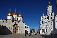 Russia,Moscow,Kremlin,Assumption Cathedral,Place of Cathedrals,Sobornaya square,Ivan the Great Bell Tower