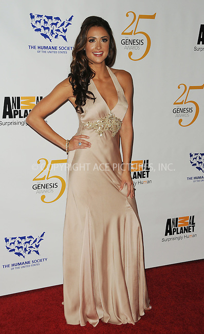 WWW.ACEPIXS.COM . . . . . ....March 19 2011, Los Angeles....Katie Cleary arriving at the 25th Anniversary Genesis Awards hosted by the Humane Society of the United States  at the Hyatt Regency on March 19, 2011 in Century City, California.....Please byline: PETER WEST - ACEPIXS.COM....Ace Pictures, Inc:  ..(212) 243-8787 or (646) 679 0430..e-mail: picturedesk@acepixs.com..web: http://www.acepixs.com