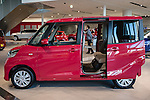 February 10, 2016, Yokohama, Japan - A Nissan Dayz Roox vehicle is seen on display at the Nissan Motor Company Ltd. showroom in Yokohama, south of Tokyo. Nissan booked a 34 percent rise in the company's group net profit to 452.8 billion yen and sold a total of 3,891,000 vehicles worldwide during the April-December 2015 period. (Photo by AFLO)