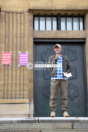 Defend Democracy: Stop The Coup protest outside City Hall, Norwich UK 7 September 2019 - anti Boris Johnson protest. Clive Lewis, Labour MP for Norwich South