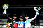 Michal Kwiatkowski (POL) Team Sky takes the overall win with Damiano Caruso (ITA) BMC Racing Team in 2nd place and Geraint Thomas (WAL) Team Sky 3rd after Stage 7 of the 53rd edition of the Tirreno-Adriatico 2018 a 10km individual time trial around San Benedetto del Tronto, Italy. 13th March 2018.<br /> Picture: LaPresse/Fabio Ferrari   Cyclefile<br /> <br /> <br /> All photos usage must carry mandatory copyright credit (&copy; Cyclefile   LaPresse/Fabio Ferrari)