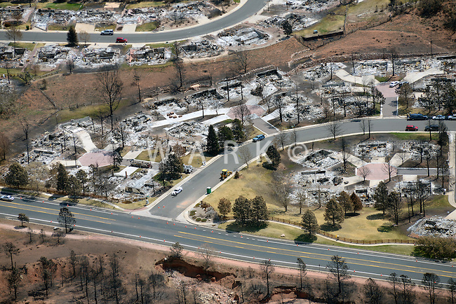 Waldo Canyon wildfire burned houses