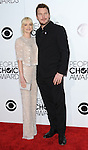 Anna Faris and husband Chris Pratt arriving at the People's Choice Awards 2014, held at Nokia Theatre L.A. Live, January 8, 2014.