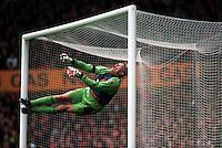 Pix:Michael Steele/SWpix...Soccer. Peter Schmeichel, Manchester United, 1996...COPYRIGHT PICTURE>>SIMON WILKINSON..Manchester Uniteds Peter Schmeichel.