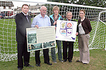Members of the Dunleer Community Development Board, Tony Mallon, Johnny Brennan, Helen Larkin Donnelly, Michael King and Catherine McConville (Louth County Council) at the unveiling of the new Football goalposts erected in the estate...Photo NEWSFILE/Jenny Matthews.(Photo credit should read Jenny Matthews/NEWSFILE)....This Picture has been sent you under the condtions enclosed by:.Newsfile Ltd..The Studio,.Millmount Abbey,.Drogheda,.Co Meath..Ireland..Tel: +353(0)41-9871240.Fax: +353(0)41-9871260.GSM: +353(0)86-2500958.email: pictures@newsfile.ie.www.newsfile.ie.FTP: 193.120.102.198.