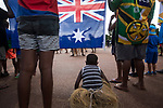 A young boy watching a Batonbearer changeover as the Queen's Baton Relay visited Injinoo. In the host state of Queensland the Queen's Baton will visit 83 communities from Saturday 3 March to Wednesday 4 April 2018. As the Queen's Baton Relay travels the length and breadth of Australia, it will not just pass through, but spend quality time in each community it visits, calling into hundreds of local schools and community celebrations in every state and territory. The Gold Coast 2018 Commonwealth Games (GC2018) Queen's Baton Relay is the longest and most accessible in history, travelling through the Commonwealth for 388 days and 230,000 kilometres. After spending 100 days being carried by approximately 3,800 batonbearers in Australia, the Queen's Baton journey will finish at the GC2018 Opening Ceremony on the Gold Coast on 4 April 2018.