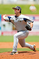 Georgia Tech Yellow Jackets relief pitcher Jarrett Didrick #2 delivers a pitch to the plate against the Miami Hurricanes at the 2012 ACC Baseball Championship at NewBridge Bank Park on May 27, 2012 in Winston-Salem, North Carolina.  The Yellow Jackets defeated the Hurricanes 8-5.  (Brian Westerholt/Four Seam Images)