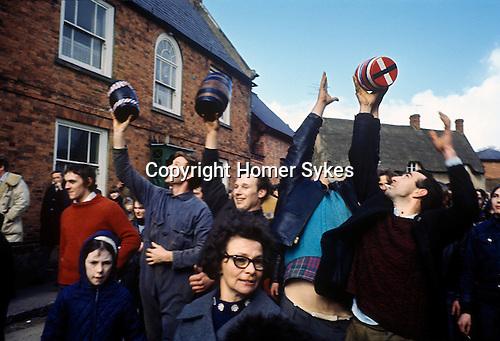 Bottle Kicking and Hare Pie Scrambling. Hallaton Leicestershire UK 1970s. Bottle Kicking and Hare Pie Scrambling. Hallalton Leicestershire. England 1970s. 1971 or 1972.