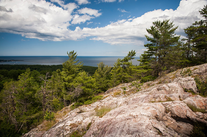 View from Mount Marquette outside Marquette, Michigan.