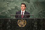 Mexico<br /> H.E. Mr. Enrique Peña Nieto<br /> President<br /> <br /> General Assembly Seventy-first session: Opening of the General Debate 71 United Nations, New York