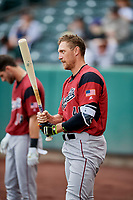 Hunter Pence (40) of the Sacramento River Cats before the game against the Salt Lake Bees at Smith's Ballpark on May 17, 2018 in Salt Lake City, Utah. Salt Lake defeated Sacramento 12-11. (Stephen Smith/Four Seam Images)