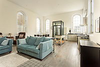 BNPS.co.uk (01202 558833)<br /> Pic: MurraysEstateAgents/BNPS<br /> <br /> Heavenly home...<br /> <br /> A stunning former Methodist chapel in the Cotswolds has gone on the market for £595,000.<br /> <br /> The delightfully-named Commodious Chapel is Grade II listed and has retained many of its original features, including arched sash windows, wall-mounted plaques and double doors with a fanlight at the front.<br /> <br /> The modest-looking former stone chapel has been transformed into an elegant home with a giant open-plan living space and designer bathrooms and fittings.<br /> <br /> The chapel, in the Cotswolds village of Edge, near Painswick, was deconsecrated and converted. The garden contains a deconsecrated graveyard including tombs, which have been screened by topiary.