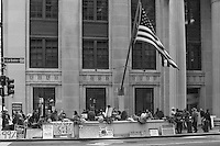 Demonstration protesting the bailout of the big banks and Wall Street's damage to the economy.