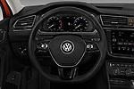 Car pictures of steering wheel view of a 2018 Volkswagen Tiguan SEL 4Motion 5 Door SUV