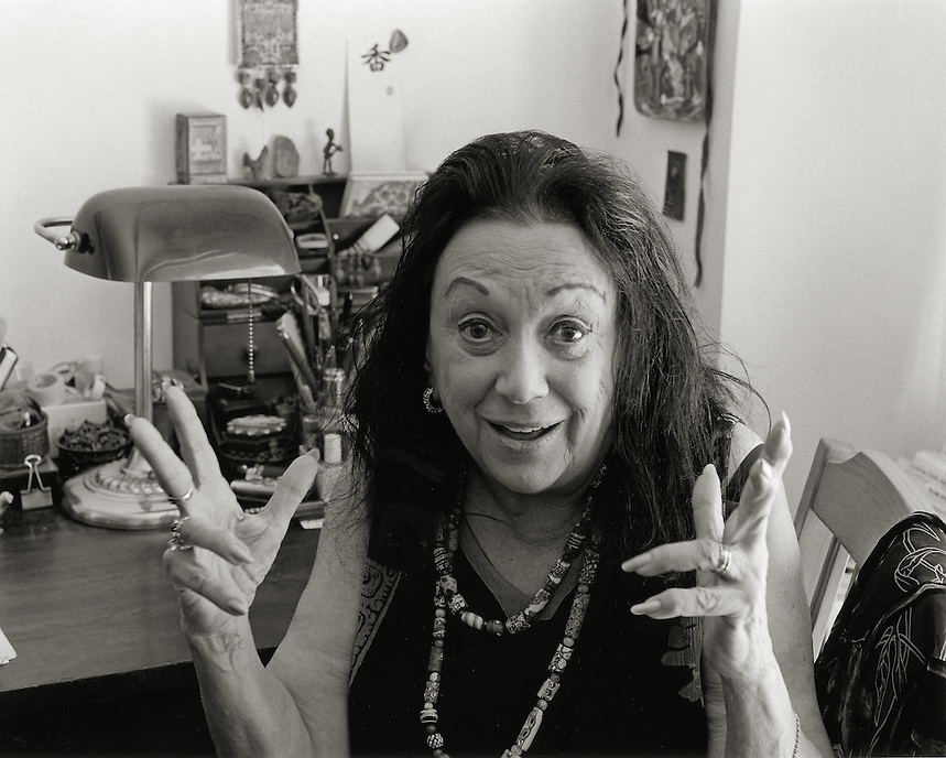 Judith Malina, 2007.  Film and theater actor, writer, director.  Co-founder, The Living Theater.