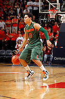 CHARLOTTESVILLE, VA- JANUARY 7: Shane Larkin #0 of the Miami Hurricanes handles the ball during the game against the Virginia Cavaliers on January 7, 2012 at the John Paul Jones Arena in Charlottesville, Virginia. Virginia defeated Miami 52-51. (Photo by Andrew Shurtleff/Getty Images) *** Local Caption *** Shane Larkin