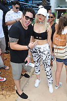 MIAMI BEACH , FL - JULY 23: Bebe Rexha and DJ Mack pose during the I Heart Radio Y-100 Mackapoolooza Pool Party at The Fountainbleu on July 23, 2016 in Miami Beach, Florida. Credit: mpi04/MediaPunch