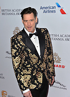 BEVERLY HILLS, CA. October 26, 2018: Jim Carrey at the 2018 British Academy Britannia Awards at the Beverly Hilton Hotel.<br /> Picture: Paul Smith/Featureflash