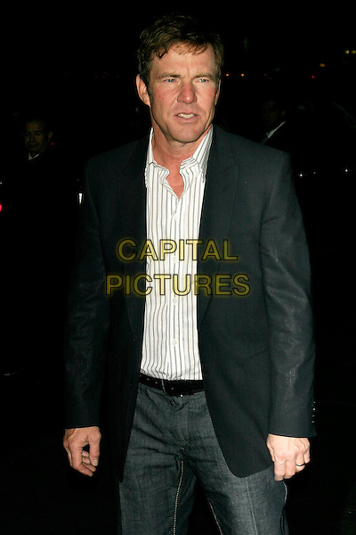 "DENNIS QUAID.Special screening of ""Smart People"" hosted by The Cinema Society.at the Landmark Sunshine Cinema, New York, NY, USA..March 31st, 2008.half length white shirt black suit jacket .CAP/LNC/TOM.©TOM/LNC/Capital Pictures."