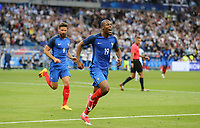 Djibril Sidibe (Monaco) of France celebrates his goal during the International Friendly match between France and England at Stade de France, Paris, France on 13 June 2017. Photo by David Horn/PRiME Media Images.