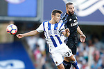 Real Sociedad's David Concha (l) and Real Madrid's Daniel Carvajal during La Liga match. August 21,2016. (ALTERPHOTOS/Acero)