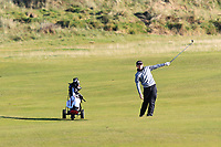 Joshua Hill (Galgorm Castle) on the 11th during Round 3 of the Ulster Boys Championship at Royal Portrush Golf Club, Valley Links, Portrush, Co. Antrim on Thursday 1st Nov 2018.<br /> Picture:  Thos Caffrey / www.golffile.ie<br /> <br /> All photo usage must carry mandatory copyright credit (&copy; Golffile | Thos Caffrey)