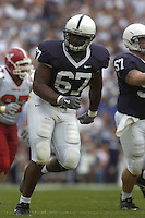 16 September 2006:  Penn State tackle Levi Brown (67)..The Penn State Nittany Lions defeated the Youngstown State Penguins 37-3 September 16, 2006 at Beaver Stadium in State College, PA..