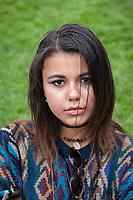 Beautiful young girl, Northwest Folklife Festival 2016, Seattle Center, Washington, USA.