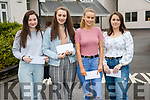 Pobalscoil inbhear sceine Kenmare leaving certificate students collect their results on Tuesday, from left: Chloe Barry, Denise McCarthy, Aobha Donovan, Carlynn O Sullivan.