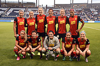 Kansas City, Kansas - Saturday April 16, 2016: Western New York Flash starters pose for a photo before the game against FC Kansas City at Children's Mercy Park. Western New York won 1-0.