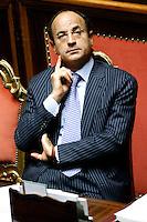 MARIO CIACCIA.Roma 22/12/2011 Senato. Voto di Fiducia sulla Manovra Economica.Votation at Senate about austerity plan. .Photo Samantha Zucchi Insidefoto