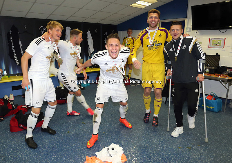 Thursday 30 April 2015<br /> Pictured: <br /> Re: FAW Youth Cup, Cardiff City v Swansea City FC at the Cardiff City Stadium, south Wales, UK.