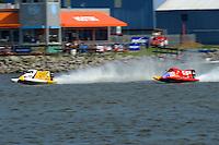 Shepherd chases Shepard: Kris Shepard (#46) and Jeff Shepherd (#38)   (Formula 1/F1/Champ class)