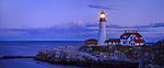 The Benevolent Sentinel, The Portland Head Light At Night, Portland Maine, USA