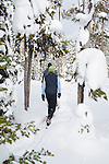 Snow Shoeing at Chief Joseph Pass in Montana
