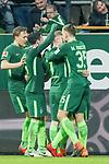 12.03.2018, Weser Stadion, Bremen, GER, 1.FBL, Werder Bremen vs 1.FC Koeln, im Bild<br /> <br /> Milot Rashica (Neuzugang Werder Bremen #11) 2 zu1 Jubel <br /> mit Florian Kainz (Werder Bremen #7)<br /> Maximilian Eggestein (Werder Bremen #35)<br /> Zlatko Junuzovic (Werder Bremen #16)<br /> Ludwig Augustinsson (Werder Bremen #5)<br /> Foto &copy; nordphoto / Kokenge