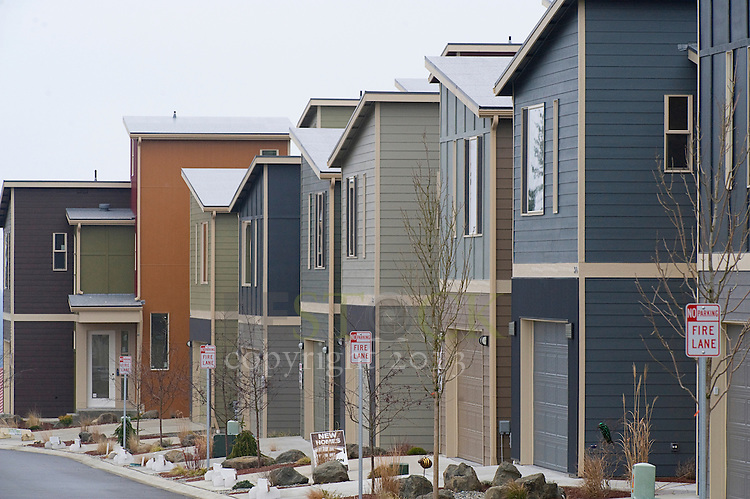 Row of New Modern Homes